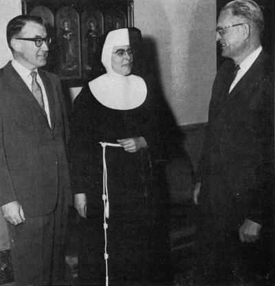 Howard Dahl, Sister Justille, and Leo Murphy
